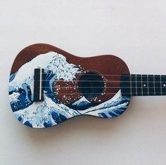 ideas music instruments drawing songs for 2019 Ukulele Art, Guitar Art, Violin, Ukulele Songs, Aesthetic Grunge, Aesthetic Vintage, Aesthetic Art, Ukelele Painted, Painted Guitars