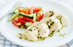 Greek-style stuffed chicken and salad recipe - goodtoknow