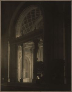 Machinery Hall, West Entrance, at Night, 1915, Francis Bruguiere.