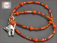 Accessoires - Kinderkette/Wickelarmband Katze Nr. Dk 20 - ein Designerstück von TANBI-kids bei DaWanda