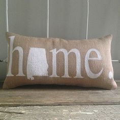 "Alabama ""Home"" Pillow"