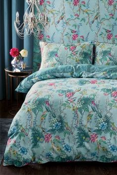 Winter doesn't just call for dark, warm colours.. Opt for bright blues and pinks to brighten up your boudoir.