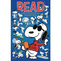 Be a cool reader like Snoopy | Snoopy Poster