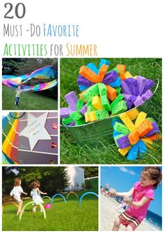 "20 Must-Do Favorite Activities for Summer-  LOVE it!  Some definite must-dos for my ""Mostly a Mommy"" summer!"