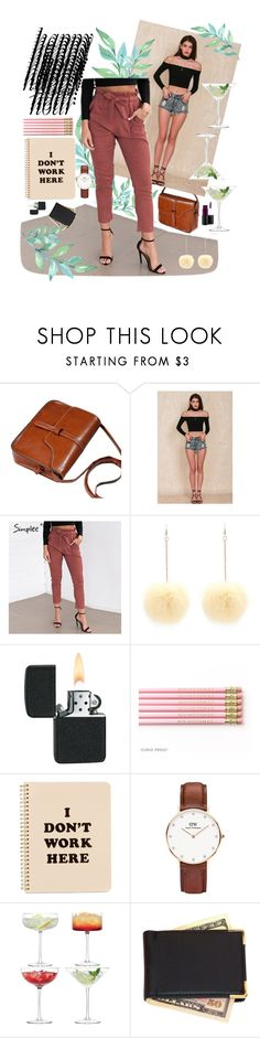 """""""Bottoms Up: Happy Hour"""" by shopbbylove on Polyvore featuring Simple Pleasures, ban.do, Daniel Wellington, LSA International, Royce Leather, MAC Cosmetics and shopbbylove"""