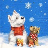 2103 Servilleta decorada Navidad