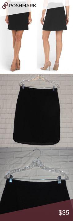 Max Studio Women's Skirt Size L Solid Black Max Studio Women's Solid Black Textured Ponte Career Casual Skirt Max Studio Skirts