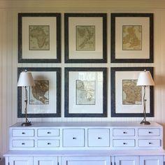 framed maps, art, custom frame, place, frame map