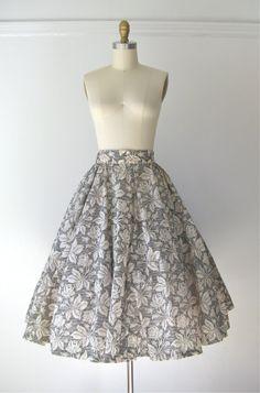 vintage 1950s skirt / 50s skirt / Hello Roses