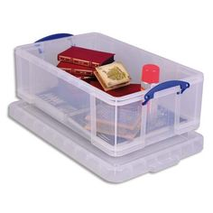 Really Useful Storage Box Plastic Lightweight Robust Stackable 50 Litre W440xD710xH230mm Clear Ref 50C: Really Useful: Amazon.co.uk: Office Products