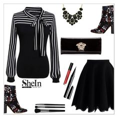 """Shein"" by simona-altobelli ❤ liked on Polyvore featuring Chicwish, Isabel Marant, Versace, Marc Jacobs, Illamasqua, women's clothing, women, female, woman and misses"