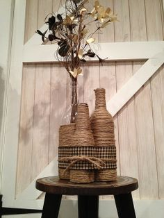 Jute bottle bouquet | Flickr - Photo Sharing!