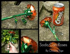 Image result for Soda Can Art Aluminum Can Flowers, Aluminum Can Crafts, Metal Crafts, Recycled Crafts, Recycled Clothing, Recycled Fashion, Soda Can Flowers, Tin Flowers, Pop Can Crafts