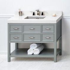 """Ronbow Newcastle 42"""" Bathroom Vanity Cabinet Base in Ocean Gray"""
