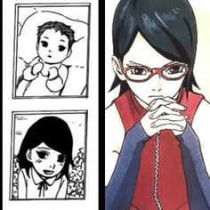I just realized she does the same thinking pose with her hands as Sasuke. Then she really is an Uchiha ~