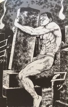 発見!ボディビルダーが登場するホラー漫画~伊藤潤二のミミの怪談