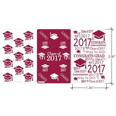 Add these Maroon Class of 2017 Graduation Party Favor Stickers to Hershey's miniature candy bars for a simple and easy graduation...