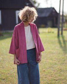 6f694c5627 Velvet kimono-style jacket OFFON CLOTHING