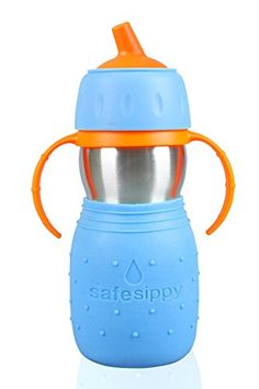 Kid Basix Safe Sippy Cup The Original Stainless Steel Sippy Cup Blue 11oz >>> Read more  at the image link.Note:It is affiliate link to Amazon.