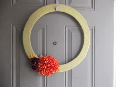 Welcome! DIY wreath on the front door