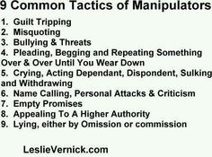 9 common Tactics Manipulators use against you. Narcissistic abuse hurts we can heal loves this Pin Thanks Abuse Narcissistic Sociopath, Narcissistic Personality Disorder, Narcissistic People, Narcissistic Behavior, Sociopathic Behavior, Narcissistic Mother, Abusive Relationship, Toxic Relationships, Healthy Relationships