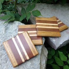 Handmade Exotic Wood Coaster Set FREE by TheGrainExpression