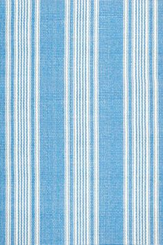 Dash & Albert Sail Stripe Blue Woven Cotton Rug