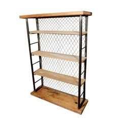 Reclaimed and Fabricated Industrial Bookcase / Display Unit  USA  circa 1940s