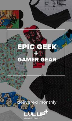 Embrace your geek chic side when you Level Up your Style. Choose from 4 apparel subscriptions starting at $8.99 a month!