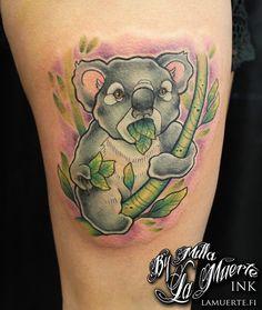 Koala tattoo by Milla Sipola @ La Muerte Ink