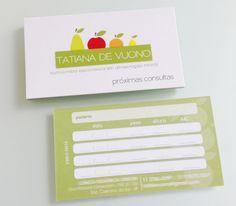 cartão de consulta, retorno nutricionista