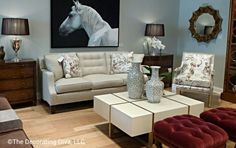 Living room furniture vignette at Pearson showroom - the very essence of timeless elegance. Love every piece. #hpmkt