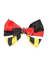 HOTTOPIC.COM - Disney Alice In Wonderland Queen Of Hearts Cosplay Hair Bow