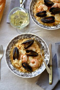 Soupy Seafood Rice, and thinking of Las Fallas