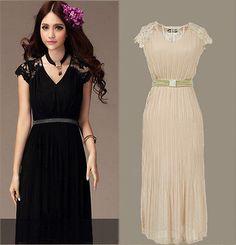 69207f7fc30d New bridesmaid women Chiffon maxi dress Evening Cocktail Vintage long lace  dress. Krajkové Šaty