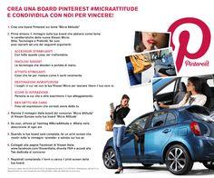 """ITALIA: Chi avrebbe mai potuto immaginare che """"pinnare"""" potesse essere così divertente? Sfoggia la tua #MicraAttitude! Crea la tua board #MicraAttitude su Pinterest e condividila con noi sulla tab dedicata al concorso della pagina Facebook di Nissan  https://www.facebook.com/NissanItalia/app_285655484905263 per vincere un premio Micra personalizzato! #MicraAttitude #Contest #Concorso #Micra #Auto #Lifestyle #Donne #Attitudine #Citazioni #Foto"""