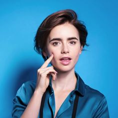 Lily Collins: Lancome Promo Shoot-42