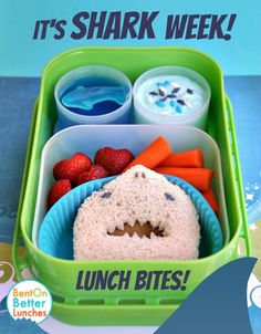Shark Week bento lunch in yubo lunch box + giveaway! - Everything About Kindergarten 2020 Bento Box Lunch, Lunch Snacks, Toddler Meals, Kids Meals, Kids Lunch For School, School Lunches, Kid Lunches, Boite A Lunch, Whats For Lunch