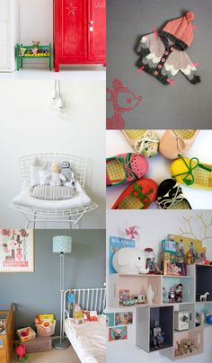 {1. Le petit lit 2. sweater 3. blanc chair 4. mina shoes 5. grey walls 6. cute storage } I hope you will just enjoy this pallete with great kids rooms ... many more to find over at Virginie Piché...