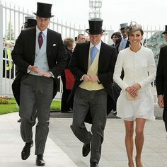 Off to the races! The stylish squad donned their racetrack best to attend the Epsom Derby in 2011.