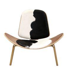 The Matt Blatt Replica Hans Wegner Shell Chair - Cowhide - Matt Blatt