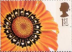 Greetings Stamps. 19th-century Flower Paintings 1st Stamp (1997) Guzmania…