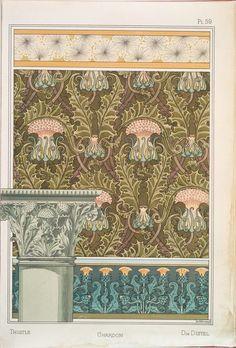 Eugène Grasset (Swiss, 1841-1917). La plante et ses applications ornementales. 1896.