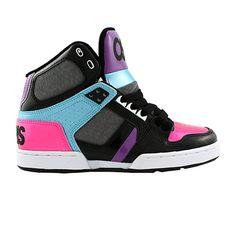 Womens Osiris NYC 83 Slim Skate Shoe - Black/Pink