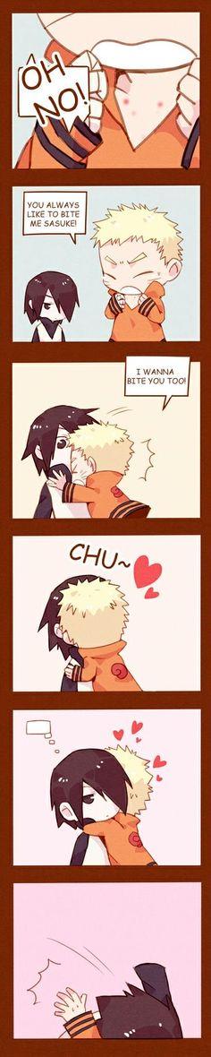 Sasunaru, Menma Uzumaki, Naruto Comic, Naruto Shippuden Sasuke, Madara Uchiha, Narusasu, Naruto And Sasuke Kiss, Naruto Cute, Anime Naruto