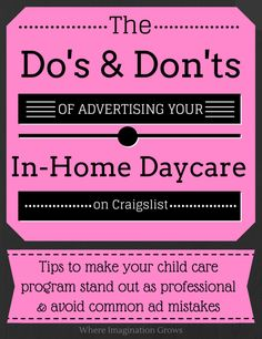 advertising your family child care program - Daycare Advertising Examples