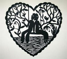 'Together' Laser cut wood decorations. Laser Cut Wood, Australian Art, Heart Art, Lovers Art, Painting On Wood, Paper Cutting, Heart Shapes, Contemporary Art, Art Gallery