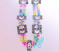 Candy Bling Necklace Pastel Gumball Beads by AClosetFullOfGoodies