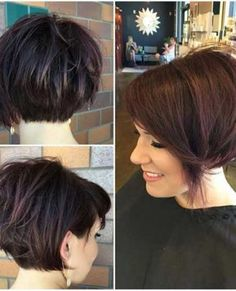 Unique Short Hairstyles for Thick Haired Ladies