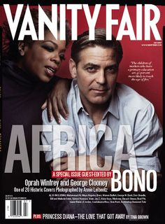 """Vanity Fair ran 20 different """"historical"""" covers, but 18 of them were digitally manipulated, including this cover with George Clooney and Oprah Winfrey."""